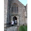 Peter and the Archdeacon leaving the church after the ceremony...