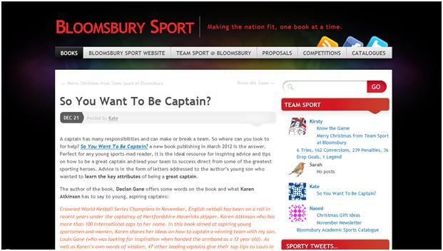 Bloomsbury Sport Blog