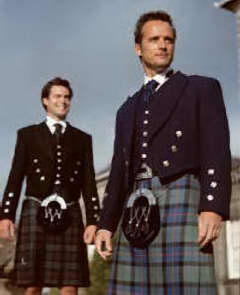 Black Watch and Flower of Scotland Tartan kilts.