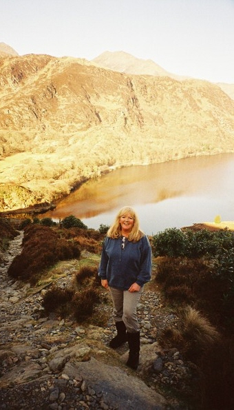 Alison walking in Snowdonia