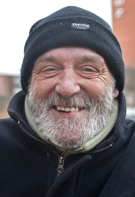Eddie, the face of Northampton's homeless.