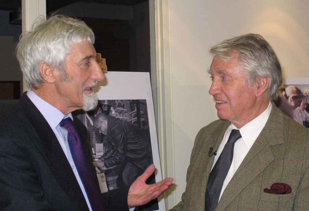 Discussing my 'Faith Through A Lens' competition entry with Don McCullin