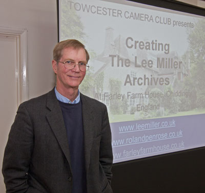 Talk by Antony Penrose about war and fashion photographer Lee Miller, 30th November 2011, at Towcester Camera Club