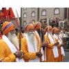 Sword bearers, leading the procession. Vaisakhi, Birmingham, 27 April 2014