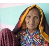 Elderly woman in traditional outfit, in village near Bhuj, Gujarat, India.