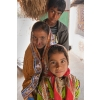 Brother and sisters, in village near Bhuj, Gujarat, India.