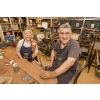 Volunteers renovating tools at Tools for Self Reliance (Northampton), Clare Street.
