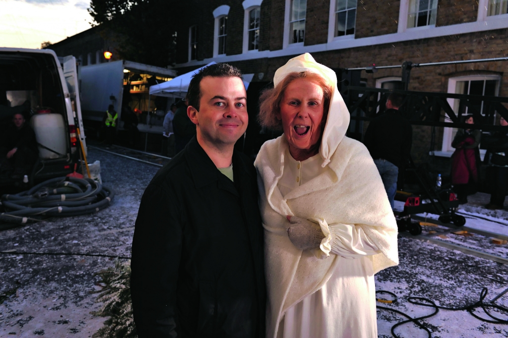 Author Jason Arnopp with Catherine Tate as Foul-Mouthed Nan!