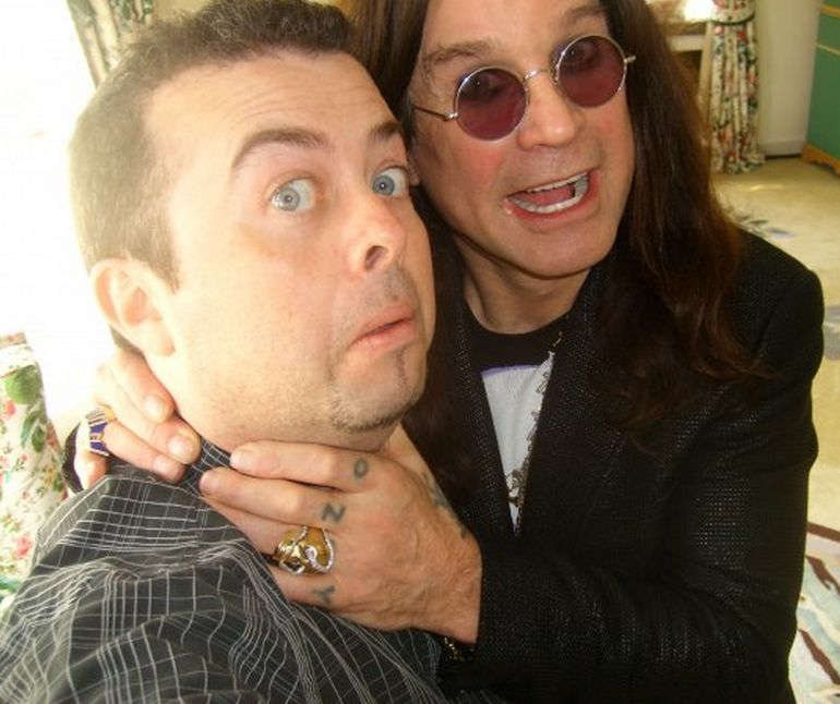 Author Jason Arnopp with Ozzy Osbourne