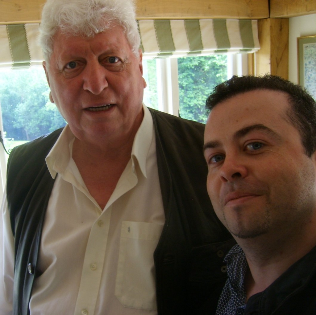 Author Jason Arnopp with legendary former Doctor Who, Tom Baker!