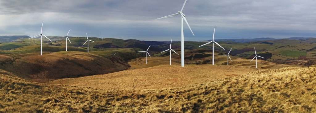 Nant y Moch from Craig y Pistyll - how it would look with a Wind Power Station - but you'd also get individual access roads excavated and constructed for each single turbine - and a massive concrete slab poured in to the hillside for every single turbine
