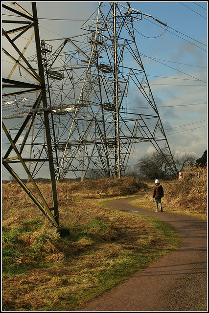 electricity pylons in the countryside - copyright Ben Salter