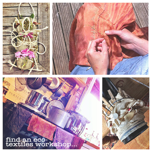 solar bundle fabric dyeing eco-printing, plant dyes find and eco-textiles workshop