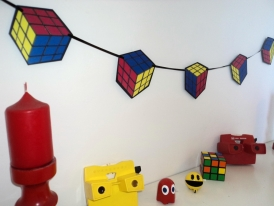 Rubiks cube decoration