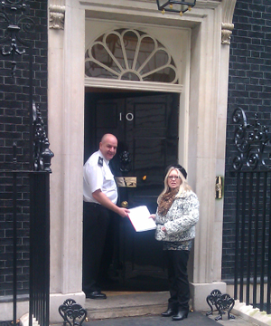 Teresa Hughes at 10 Downing Street