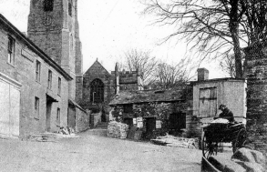 London Inn and Church circa 1900