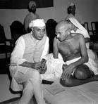 Pandit Nehru with Ghandi