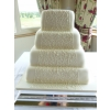 Square lace veil Wedding cake