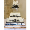 Monochrome Butterfly Wedding Cake with separator