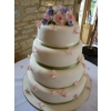Falling Rose Petal and blossom cake