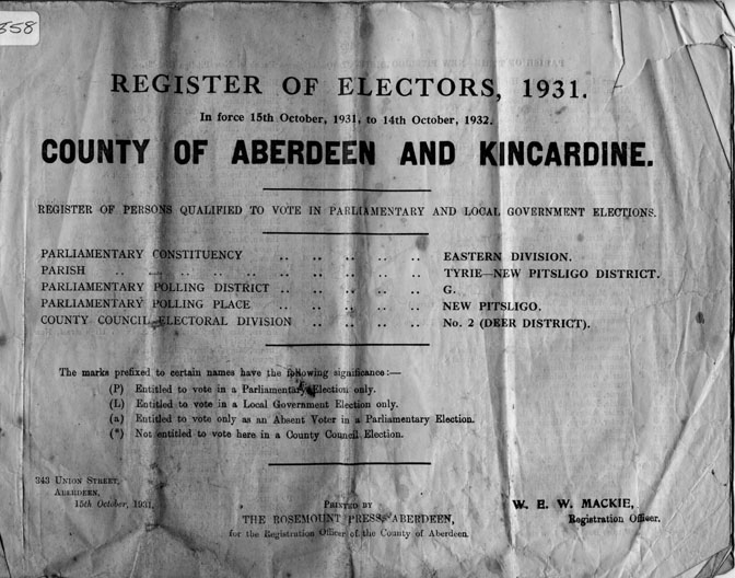Register of Electors 1931