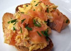 Breakfast at Broad Street 35 Smoked Salmon and Scrambled eggs