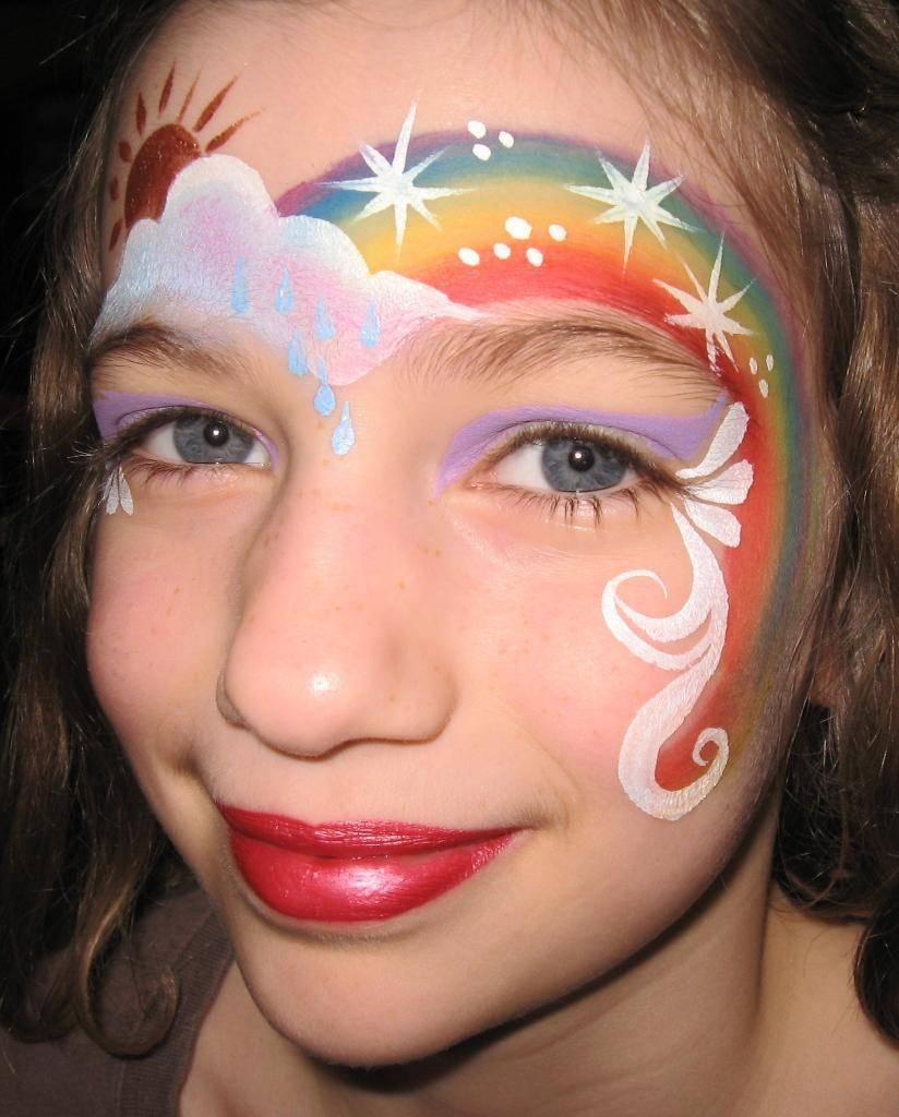 Rainbow face rainbow face for Face painting business