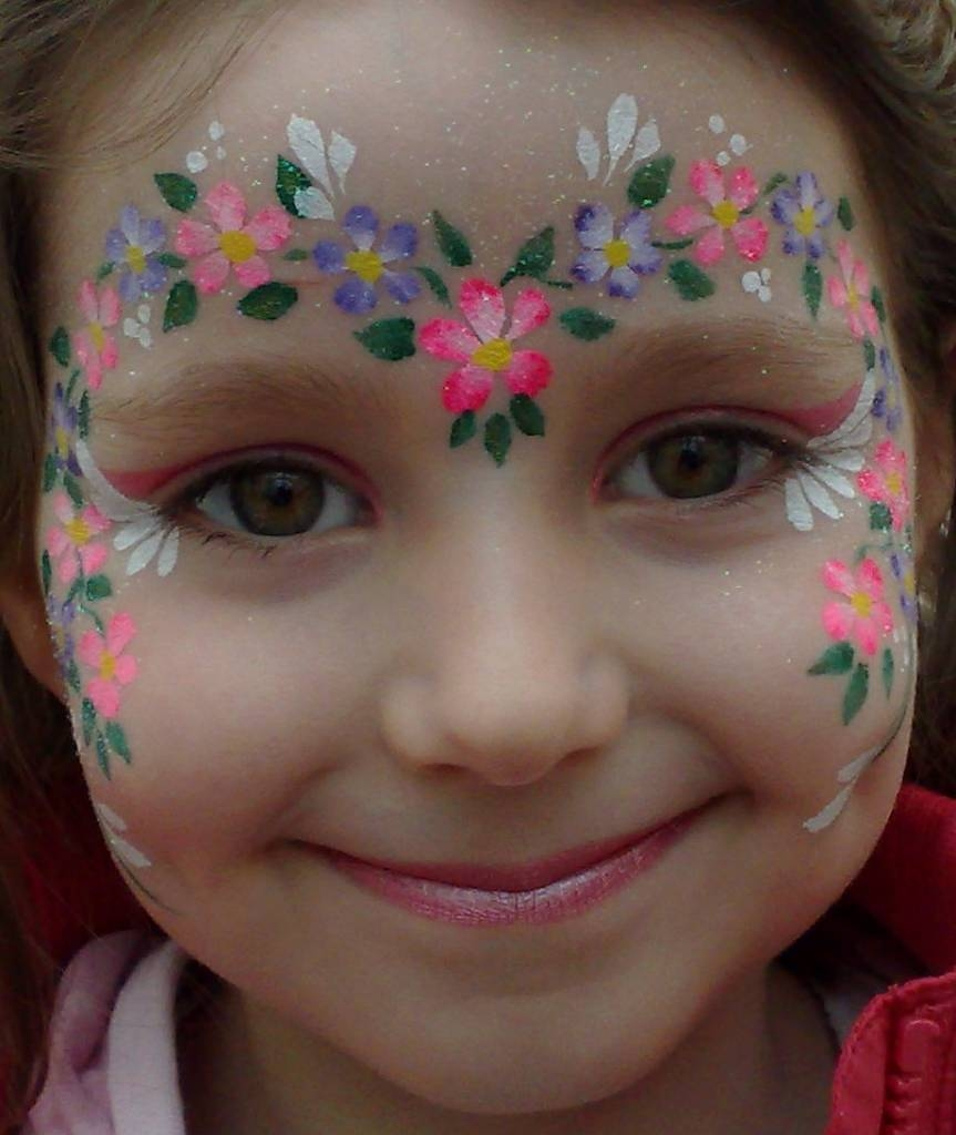 flower face painting designs