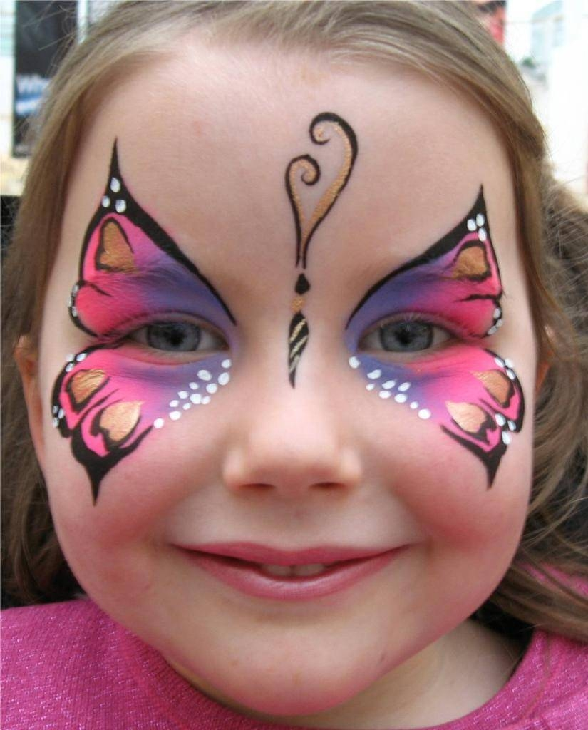Pink lil pink lilac butterfly for Face painting business