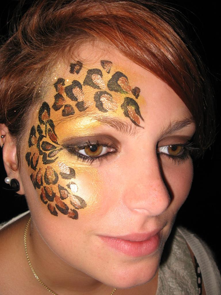 Leopard eyes leopard eyes for Face painting business