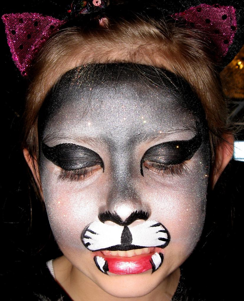 Black cat black cat for Face painting business