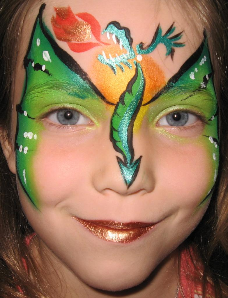 Dragon dragon for Face painting business