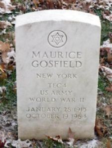 Maurice's headstone