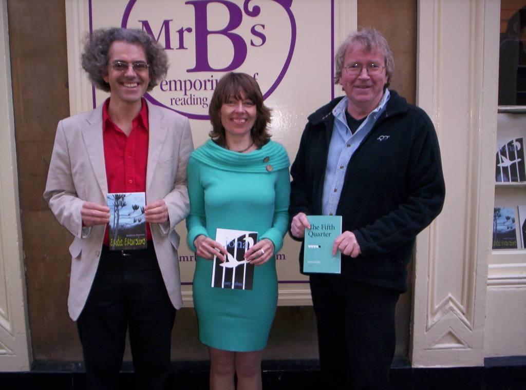 Anthony, Mary & Richard launch their books at Mr Bs, Bath 2008