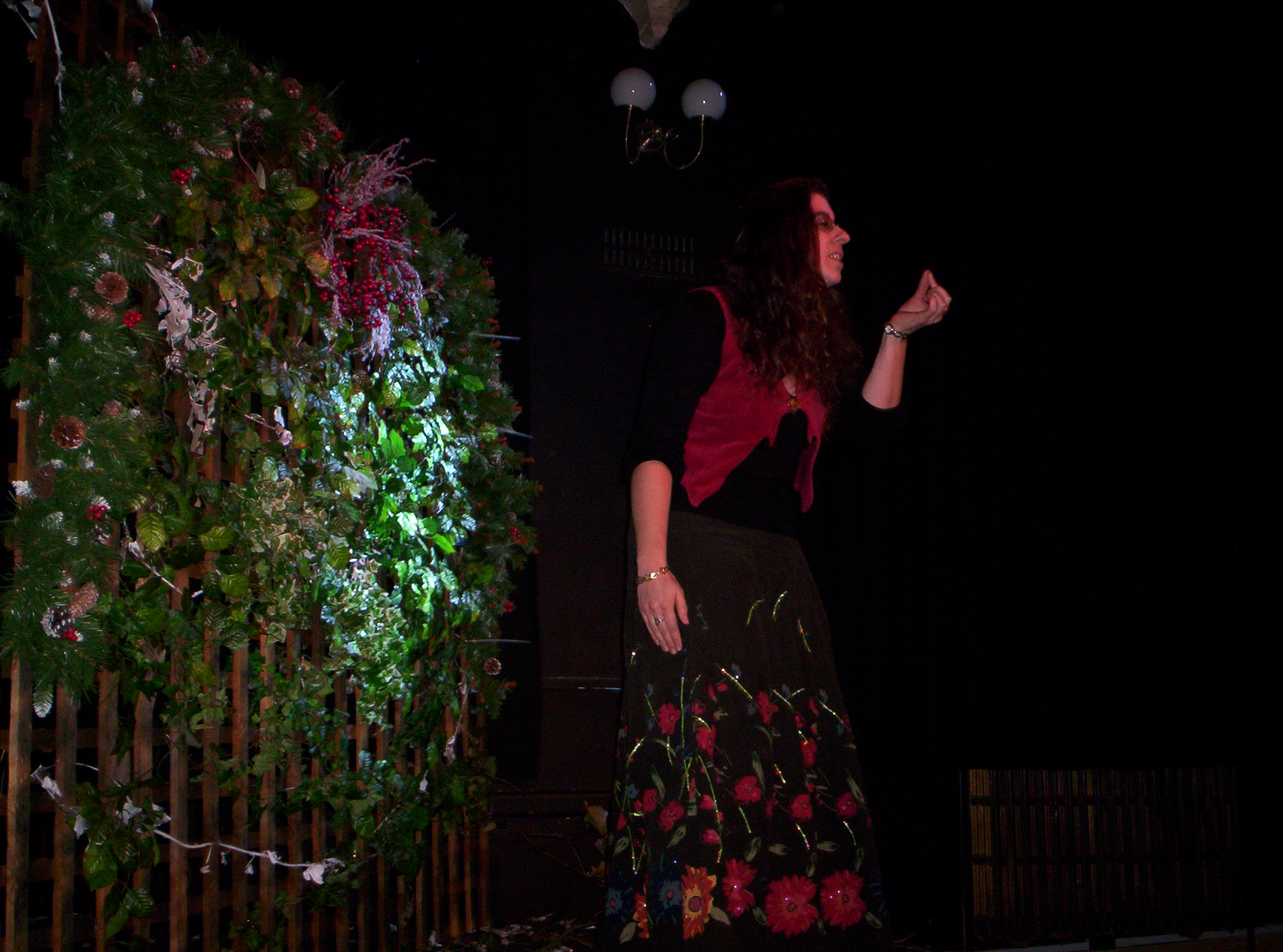 Kirsty Hartsiotis - storyteller at Garden of Awen