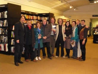 Awen authors celebrate another book launch, Waterstones, Bath
