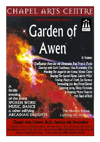 Garden of Awen: Lighting the Darkness 6 Dec 2009