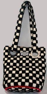 Black/Ivory Eyelet Bag