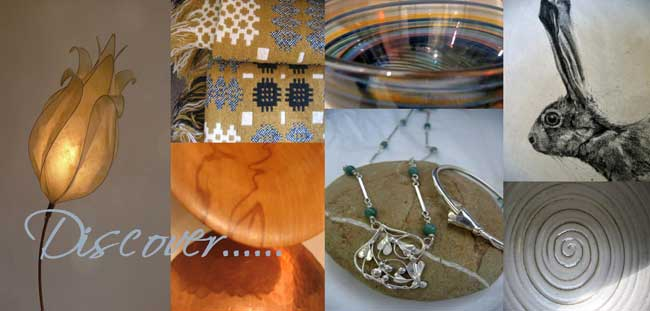 discover... contemporary arts & crafts, glass, ceramics, metal & wood, textiles, painting, prints & jewellery