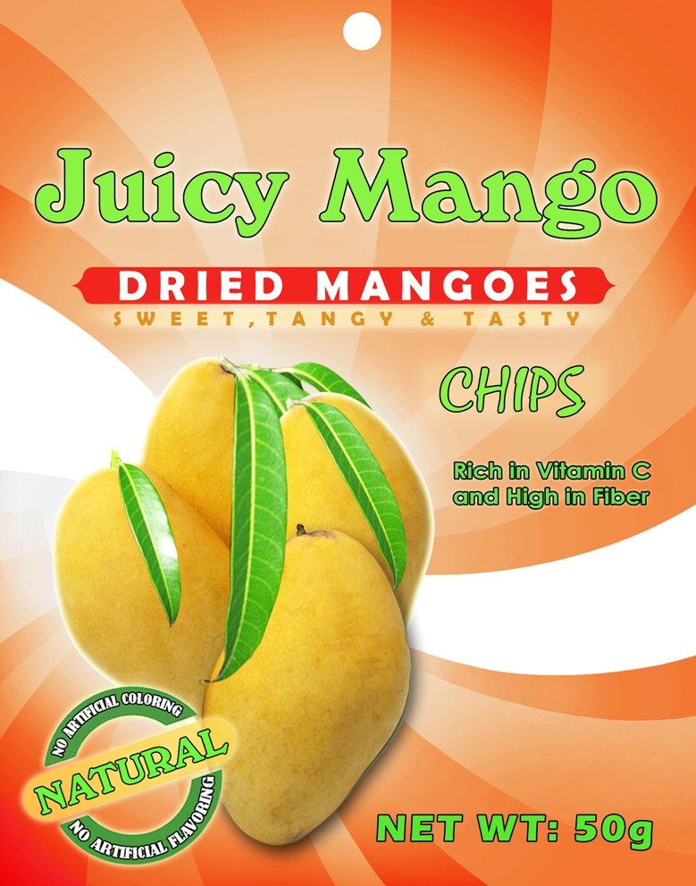 Dried mango chips